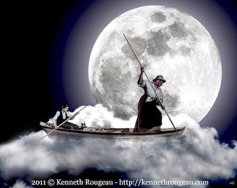 Surreal Fantasy Artwork - Moonlight Bay I - 11x14 Fine Art Print