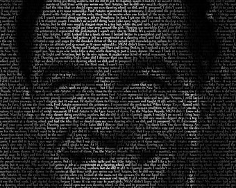 Gene Kelly - 11x14 Typographical Portrait Fine Art Print