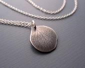 Small Hydrangea Petal Necklace - Sterling Silver