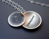 SPECIAL ORDER for Becky - Silver Joy/Sorrow Necklace
