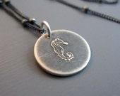 Tiny Silver Seahorse Necklace