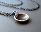 Tiny Cup  - Sterling Silver Necklace