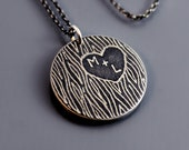Personalized Carved Tree Initials Necklace - As Seen in Midwest Living Magazine