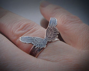 Sterling Silver Ring - To Have Faith Is To Have Wings - Inspirational Quote