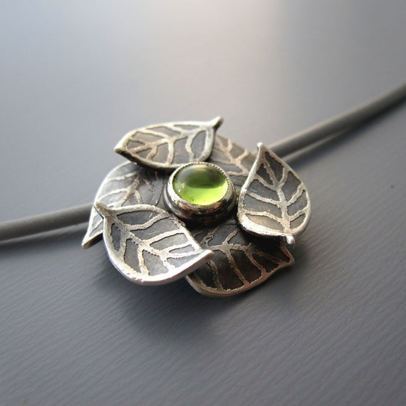 Peridot Necklace - Sterling Silver Gemstone Jewelry - Birthstone