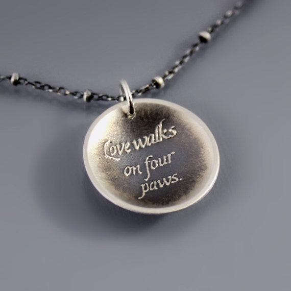 Round Love Walks On Four Paws Necklace