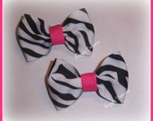 2 Zebra and Candy Pink Minis