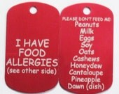 Personalized Food Allergy Tag