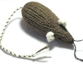 Catnip Mouse Cat Toy Brown with White Ears
