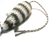Catnip Mouse Cat Toy Cotton with Rich Brown Stripes