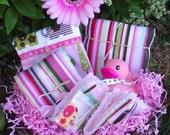 Custom Beach Barn Baby Basket - Pink Elepahants
