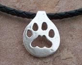 Mountain Lion Paw Print Necklace/Choker