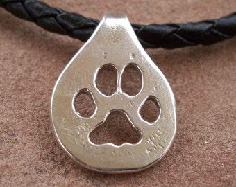 Wolf Paw Print Necklace/Choker
