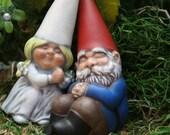 "Gnomes Cake Topper ""Custom Wedding Garden Gnomes"" Cake Decorations Gnome Couple"