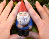 Garden Gnome Gnewt  the Miniature Concrete Garden Gnome
