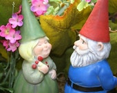 Gnomeo & Juliet Cement Garden Gnome Couple