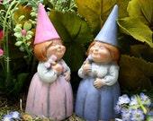 Gay Lesbian LGBT - Same Sex Wedding Gnomes - Cake Topper