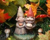 Garden Gnomes Fall Autumn Thanksgiving Centerpiece Decoration