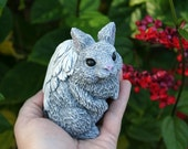 Angel Rabbit  - Bunny Angel Memorial Animal Garden Statues