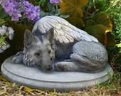 "German Shepherd Angel Dog Statue - ""Forever My Guardian Angel"""