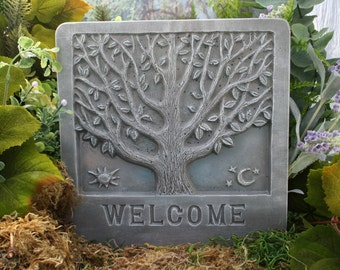 Welcome Sign - The Tree of Life - Outdoor Garden Plaque Sign