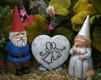 Custom Wedding Gnomes - 3 Piece Set Cake Topper