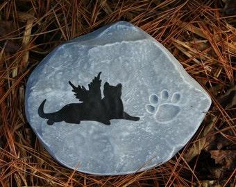 Pet Memorial Markers, Cat Garden Memorial Stone Or Plaque