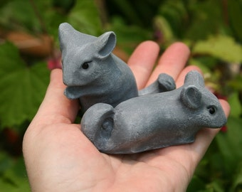 Chinchilla Statues - Set of Two Baby Chin Figurines