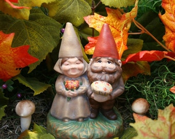 Garden Gnomes Fall Autumn Thanksgiving Centerpiece Decoration