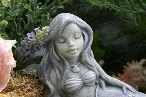 The Little Mermaid Garden Statue Concrete Sculpture Art