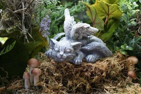 Angel Cat Pet Memorial Statue Sweet Serenity Garden