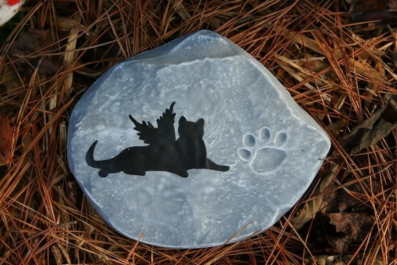 Items Similar To Pet Memorial Markers Cat Garden Memorial Stone Or Plaque On Etsy