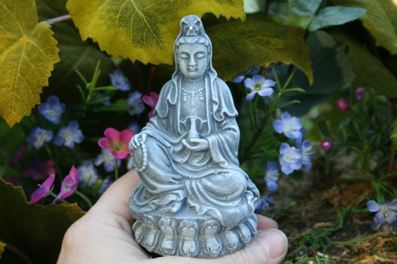 Kwan Yin - Goddess of Mercy - Miniature Zen Garden Statue