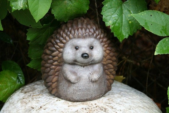 Outdoor Sculpture Hedgehog Statue - Cute Decor For Your Garden
