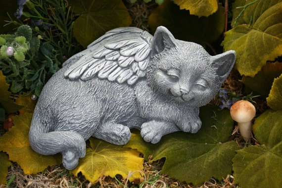 Cat Angel Statue - Sweet Dreams at The Rainbow Bridge