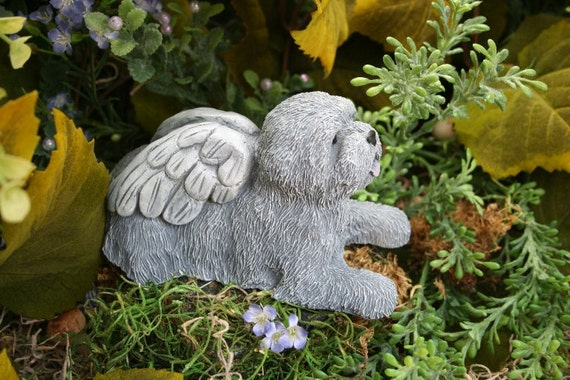 Dog Angel Statues   Dog Memorials   Mixed Breed, Terrier, Shih Tsu, Bichon  Frise