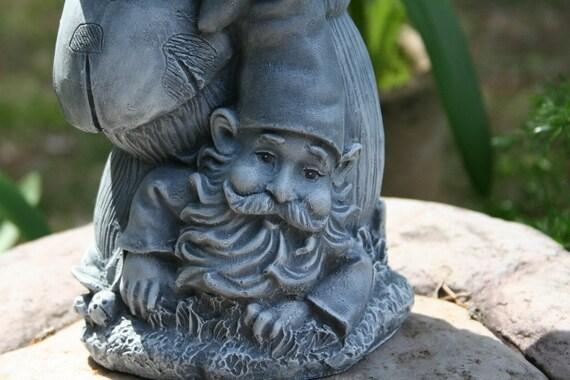 Garden Gnome Bird Feeder / Mooning Garden Gnome Birdbath