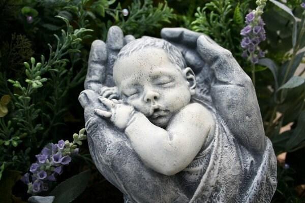 Gnome Garden: PRECIOUS BABY SCULPTURE Concrete Outdoor Garden By