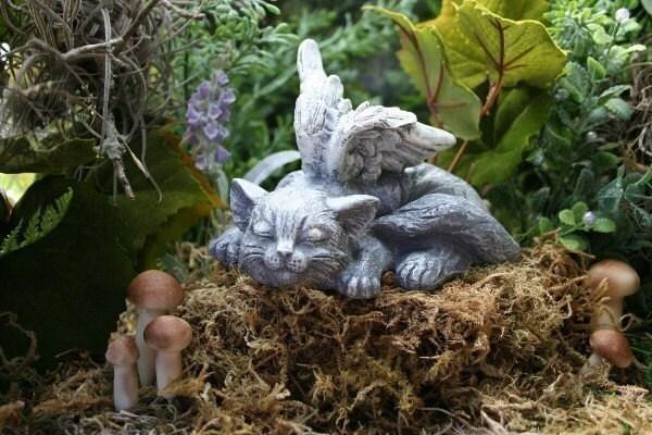 Angel Cat Statue Sweet Serenity Cat Memorial