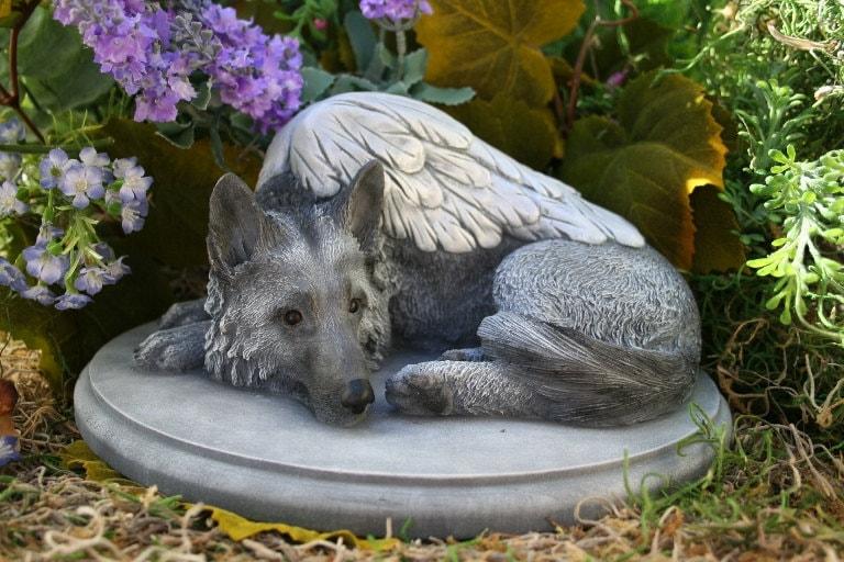 German Shepherd Angel Dog Statue Forever My Guardian