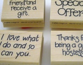 Close to My Heart Wood Mount Rubber Stamps Hostess Set