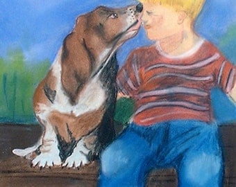 First Kiss original painting drastically reduced price shipped free within the USA
