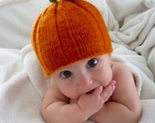 Knitting Pattern - Pumpkin Pie Hat Sized Baby to Age 3