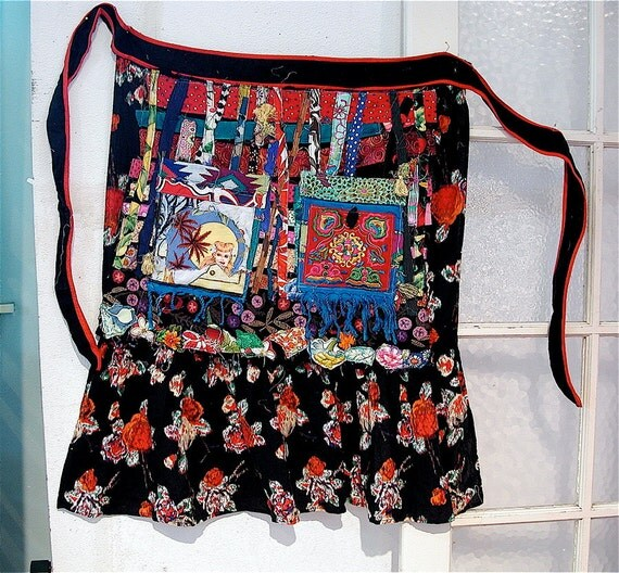 Ethnic Wearable Art Altered APRON Couture
