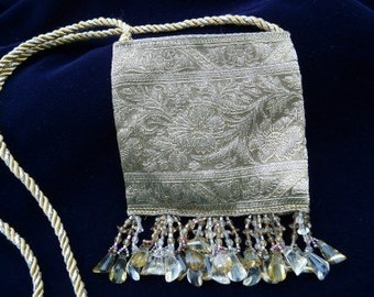 Tiny Purse, Gold Tapestry