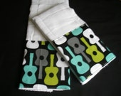 Boutique Burp Cloth sets......Groovy Guitars Baby Boutique Burp Cloth Set