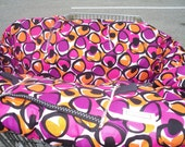 Boutique shopping cart cover....Pink Purple and Orange Geometrics Shopping Cart Cover