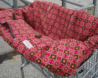 Boutique Shopping Cart Cover STRAWBERRY FIELDS Shopping Cart Cover