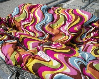 Boutique Shopping Cart Cover MODERN ESS STRIPE Shopping Cart Cover