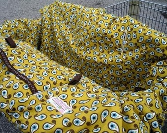 Boutique Shopping Cart Cover  or high chair cover......Amber Erica Shopping Cart Cover